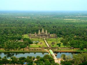 Vista áerea de Angkor.