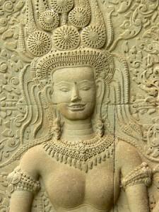 Las famosas Apsaras, o ninfas acuáticas de la mitología hindú.