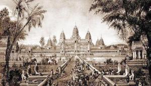 Reproducción de Angkor Wat de Louis Delaporte (1880).